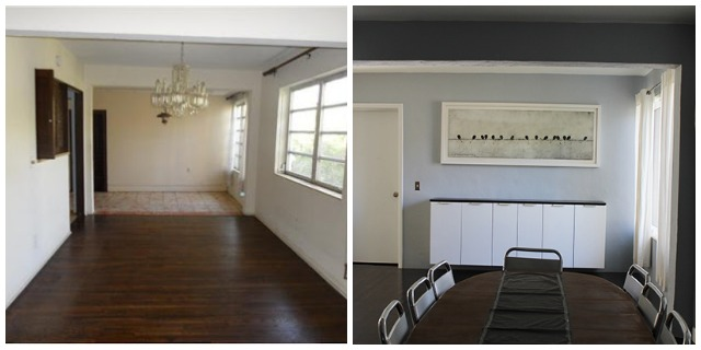 Dining Room Before and After - Directions Not Included