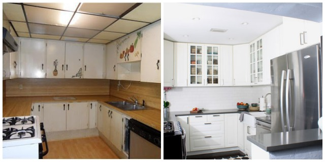 Kitchen Before and After - Directions Not Included