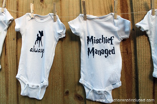 DIY Harry Potter Onesies - Directions Not Included