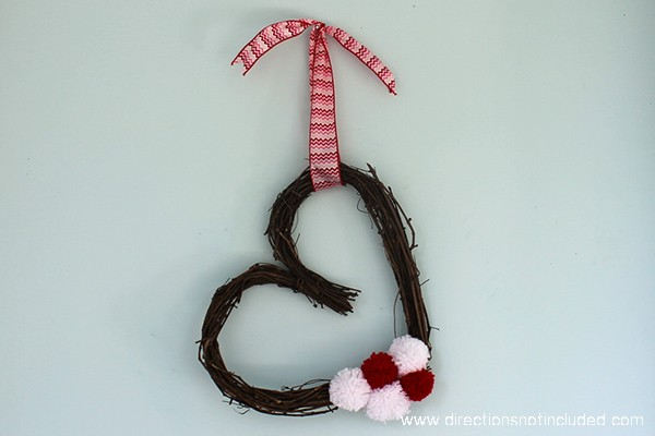 Simple Valentine's Day Wreath - Directions Not Included