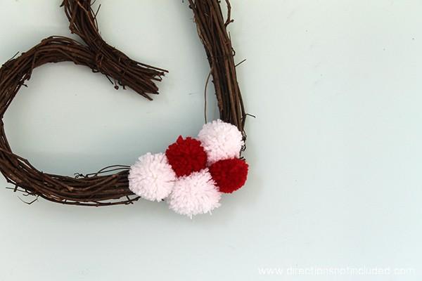 Simple Valentine's Day Wreath