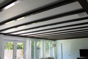 Exposed Beam Ceiling - Directions Not Included