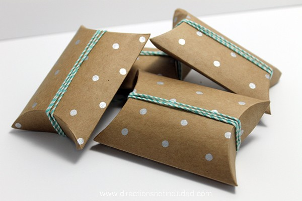 Simple Valentine's Day Idea - Directions Not Included - Pillow Boxes and Twine
