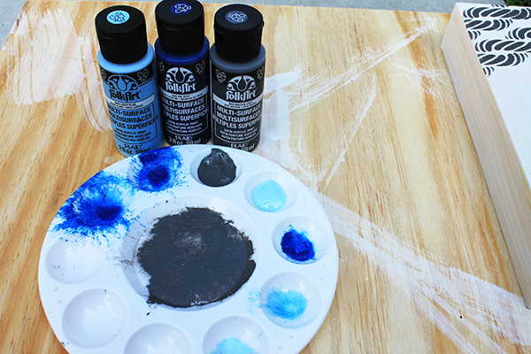 FolkArt Multi-Surface Paint - Don't use a lot of paint to stencil