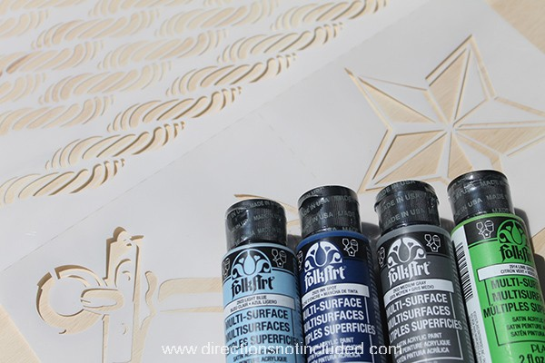FolkArt and Stencil1 - Supplies