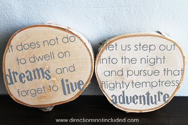 Harry Potter Nursery Art - Directions Not Included - Birchwood Slices Nursery Art