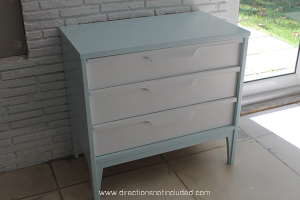 Just a little color painted midcentury modern furniture for Painted mid century modern furniture