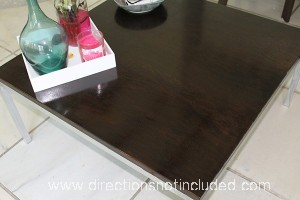 Refinished Modern Coffee Table - Directions Not Included