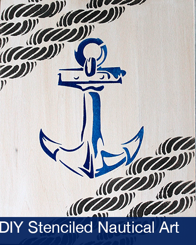 Stencil1 and FolkArt - Stenciled Nautical Art