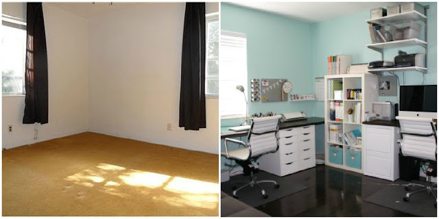 Craft Room Before and After - Directions Not Included