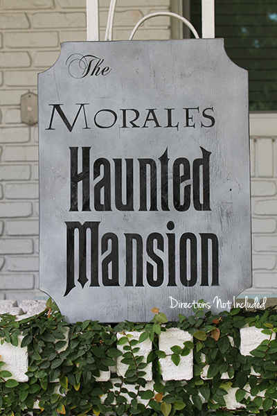 DIY Haunted Mansion Sign - Directions Not Included