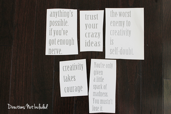 diy inspirational quote notebooks | Directions Not Included