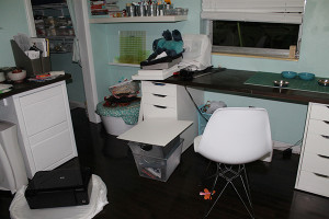 Craft Room in Chaos - Directions Not Included