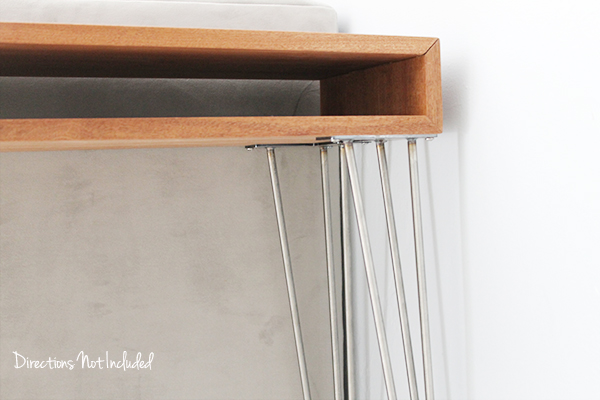 DIY MidCentury Console Table  - Directions Not Inlcuded