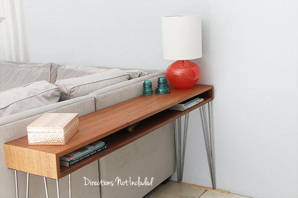 DIY MidCentury Console Table6