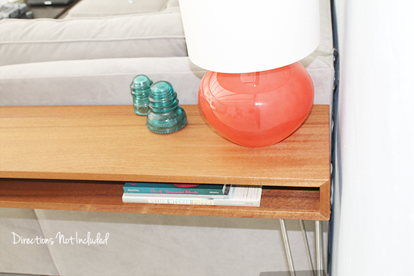 DDIY MidCentury Console Table  - Directions Not Inlcuded