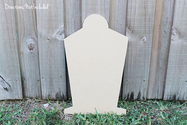 Knock Off Pottery Barn Chalkboard Tombstone - Directions Not Included