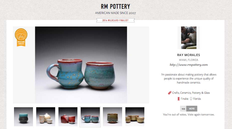 RM Pottery - Martha Stewart American Made Awards