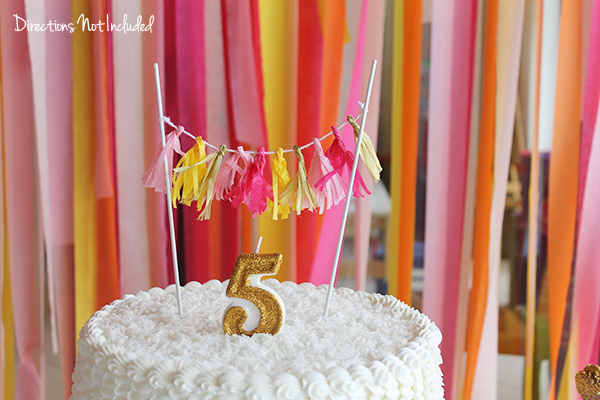 Streamer Birthday Decorations  - Directions Not  Included